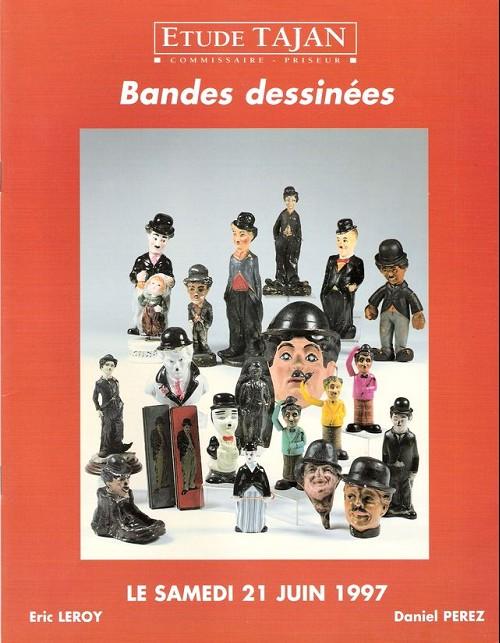 Couverture de (Catalogues) Ventes aux enchères - Tajan - Tajan - Bandes dessinées - samedi 21 juin 1997 - Paris espace Tajan