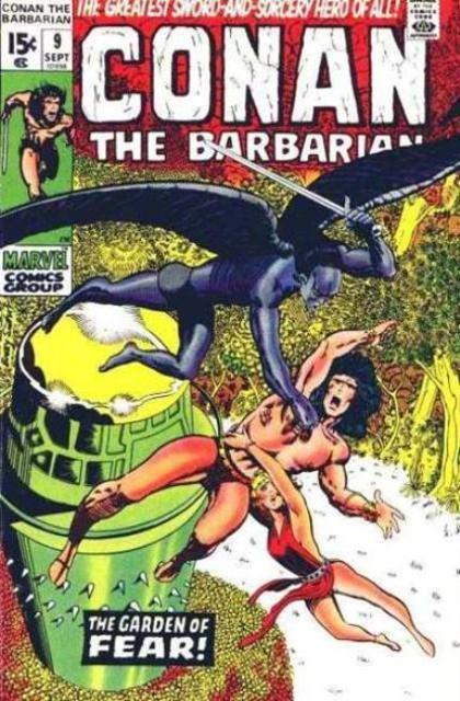 Couverture de Conan the Barbarian Vol 1 (Marvel - 1970) -9- The garden of fear