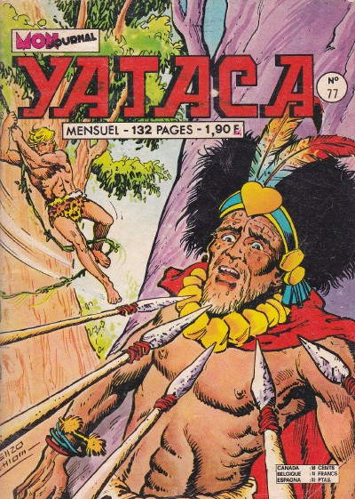 Couverture de Yataca (Fils-du-Soleil) -77- Les naufragés du Zambèze