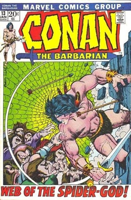 Couverture de Conan the Barbarian Vol 1 (Marvel - 1970) -13- Web of the spider-god