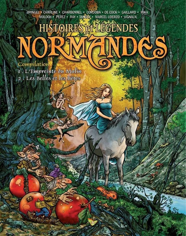 Couverture de Histoires et Légendes Normandes -INT- Compilation - L'Empreinte du Malin - Les Belles et les Bêtes
