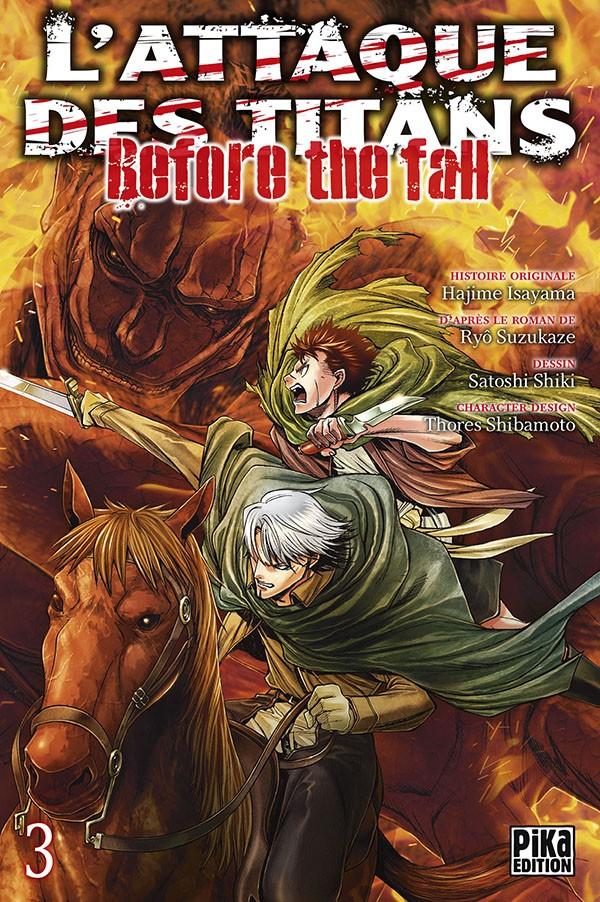 Couverture de L'attaque des Titans - Before The Fall -3- Tome 3