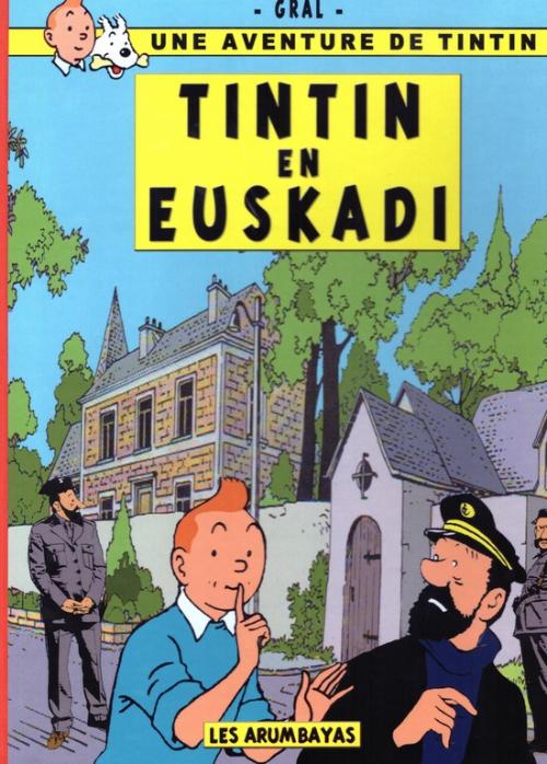 Couverture de Tintin - Pastiches, parodies & pirates - Tintin en Euskadi