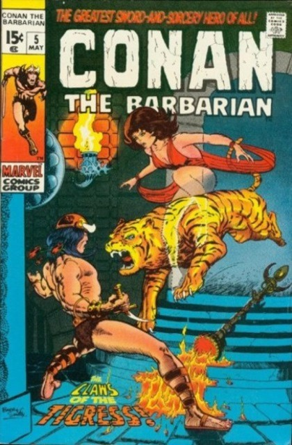Couverture de Conan the Barbarian Vol 1 (Marvel - 1970) -5- The claws of the tigress!
