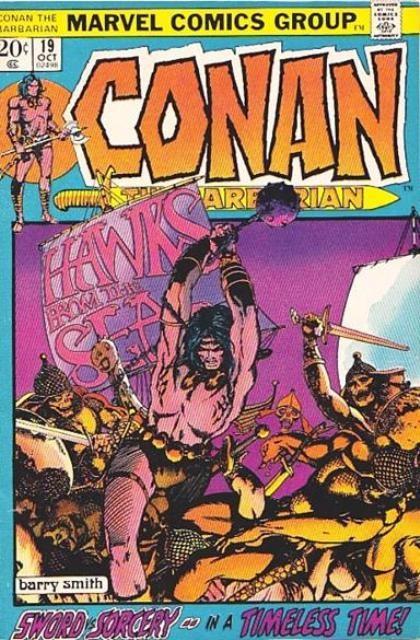 Couverture de Conan the Barbarian Vol 1 (Marvel - 1970) -19- Hawks from the sea