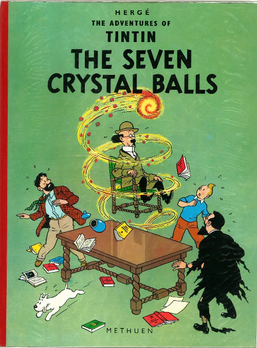 Couverture de Tintin (The Adventures of) -13- The Seven Crystal Balls