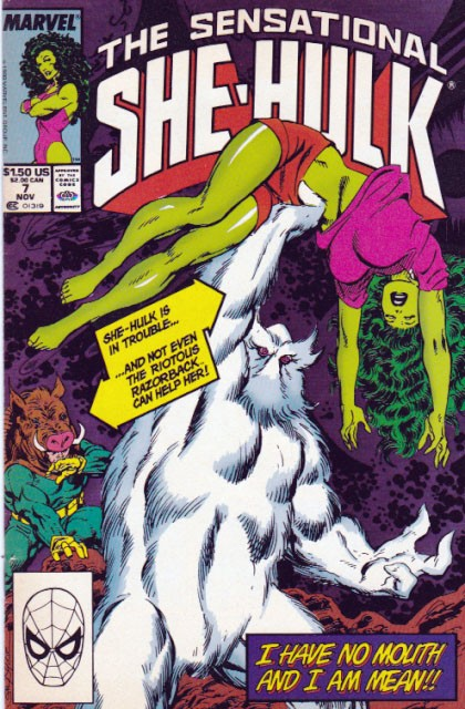 Couverture de Sensational She-Hulk (The) (1989) -7- I Have No Mouth And I Am Mean!!