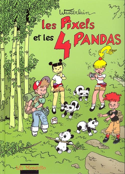 Couverture de Les pixels -4- Les pixels et les 4 pandas