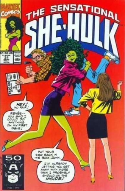 Couverture de Sensational She-Hulk (The) (1989) -31- Interrupted melody