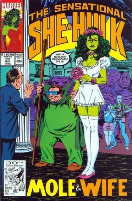 Couverture de Sensational She-Hulk (The) (1989) -33- Mole & Wife