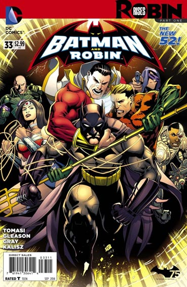 Couverture de Batman and Robin (2011) -33- Robin rises : Cold justice