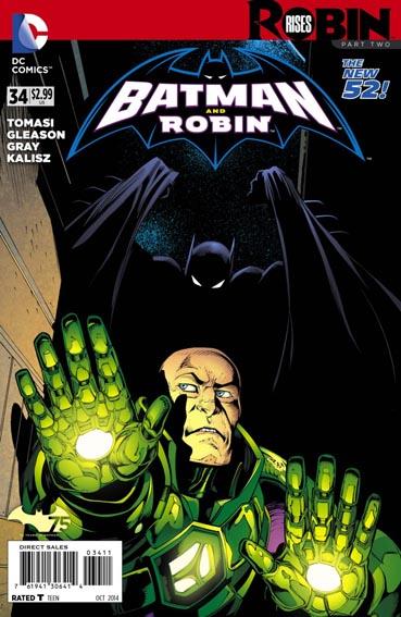 Couverture de Batman and Robin (2011) -34- Robin rises : Ties that bind
