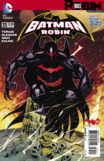 Couverture de Batman and Robin (2011) -35- Robin rises : Hellbound
