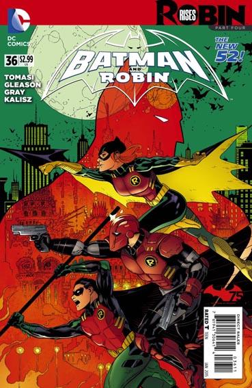 Couverture de Batman and Robin (2011) -36- Robin rises : Chaos