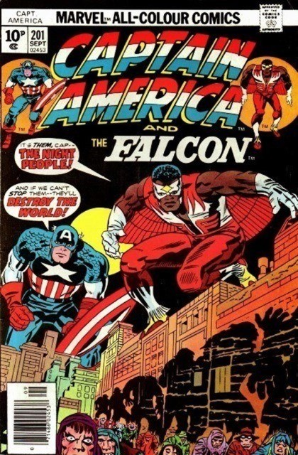 Couverture de Captain America (Marvel comics - 1968) -201- The night people!