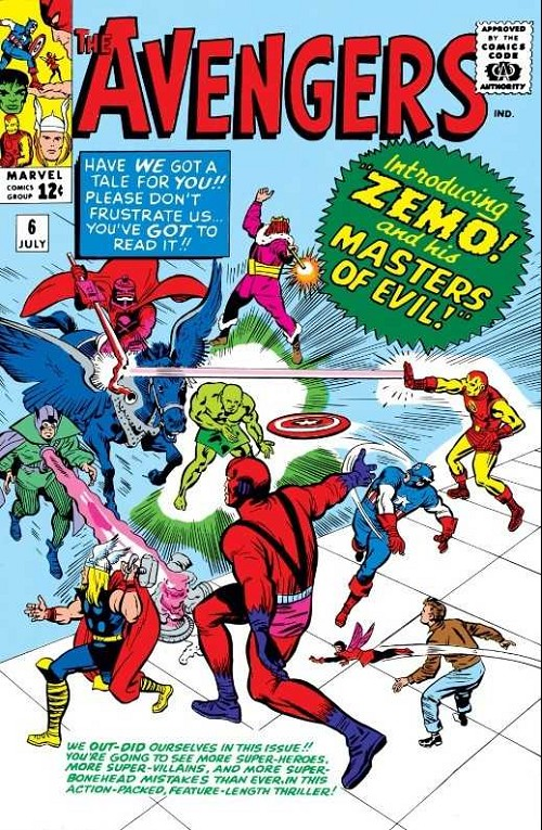 Couverture de Avengers Vol. 1 (Marvel Comics - 1963) -6- Master of evil
