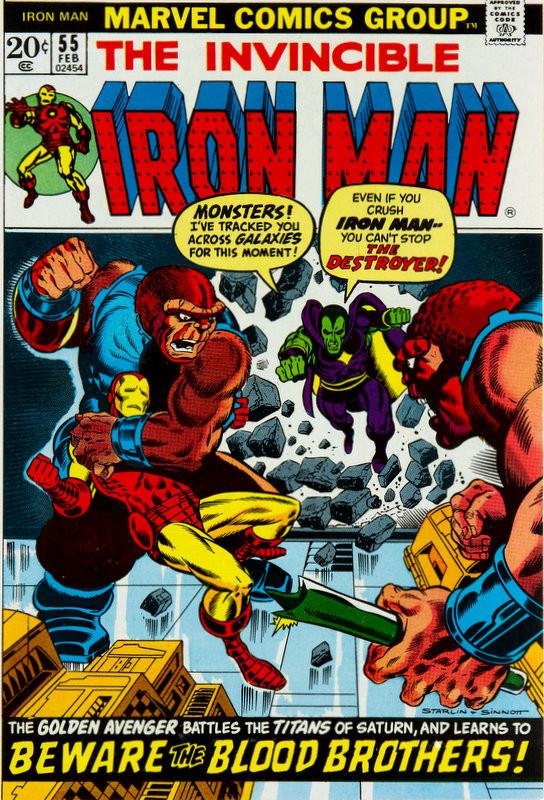 Couverture de Iron Man Vol.1 (Marvel comics - 1968) -55- Beware -- Beware -- Beware the... Blood Brothers!