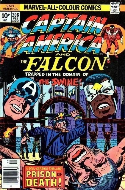 Couverture de Captain America (Marvel comics - 1968) -206- Face To Face With The Swine!