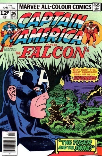 Couverture de Captain America (1968) -207- The Tiger and The Swine!