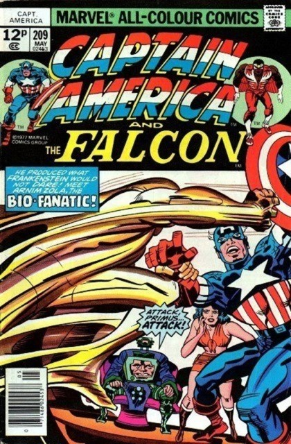 Couverture de Captain America (1968) -209- Arnim Zola - The bio-fanatic!