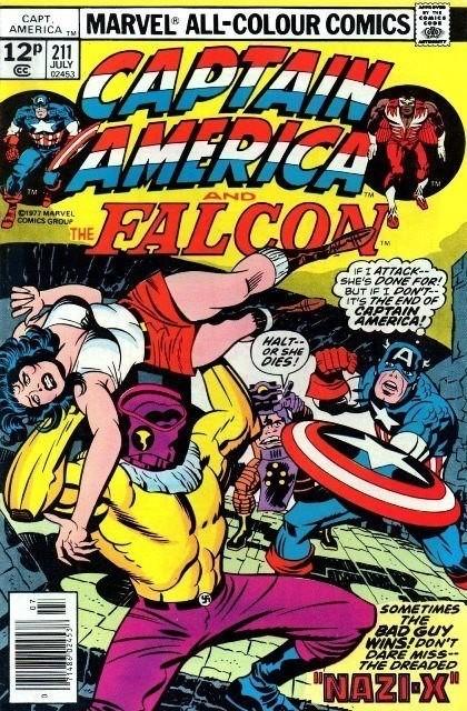 Couverture de Captain America (Marvel comics - 1968) -211- Nazi X