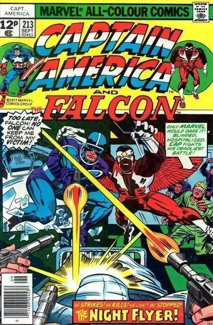 Couverture de Captain America (Marvel comics - 1968) -213- The night flyer!