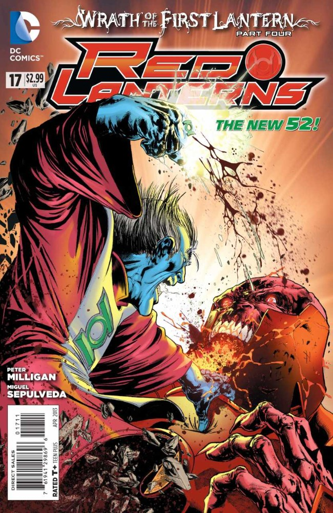 Couverture de Red Lanterns (2011) -17- Wrath of the First Lantern, Part Four