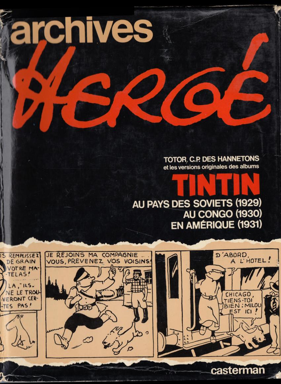 Couverture de Archives Hergé - Tome 1