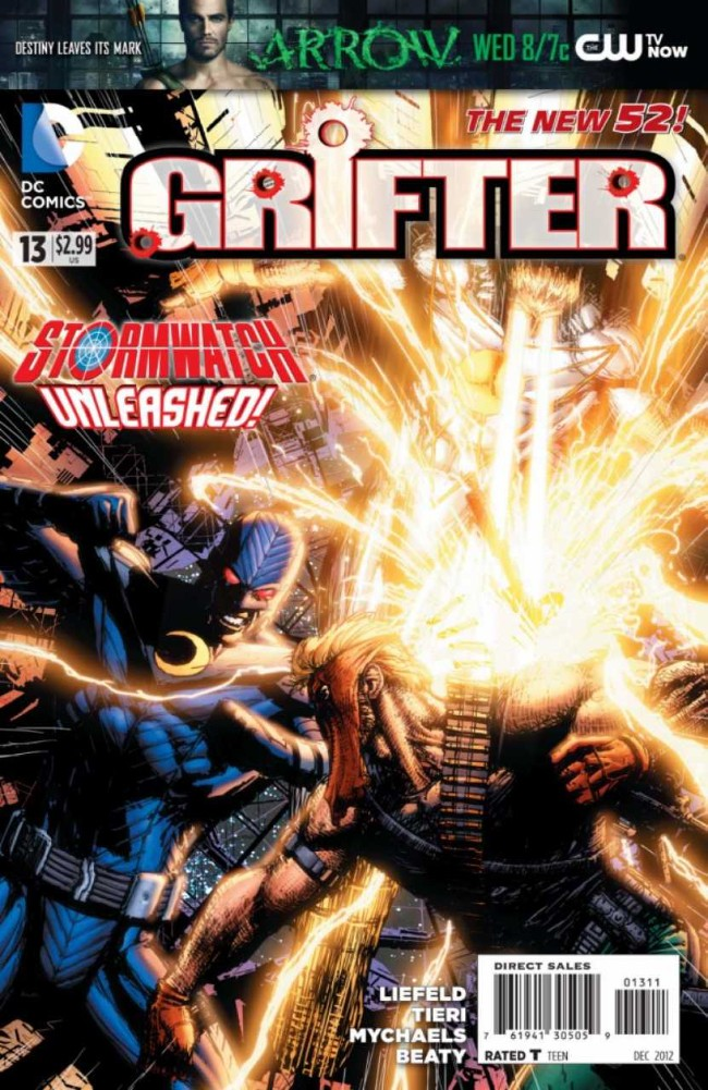 Couverture de Grifter (2011) -13- The Eye of the Storm
