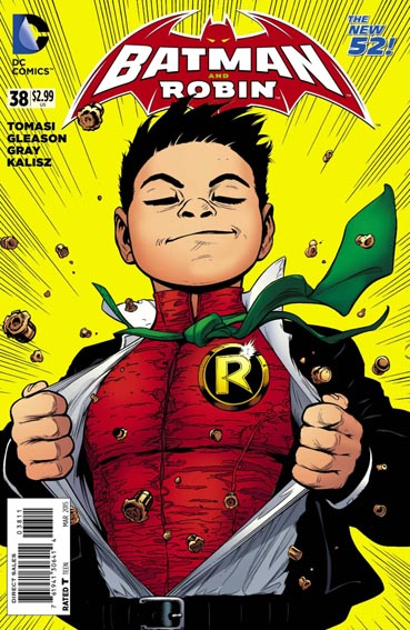 Couverture de Batman and Robin (2011) -38- Superpower - Fly Robin Fly