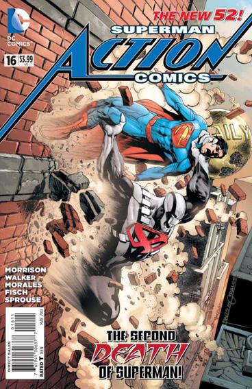 Couverture de Action Comics (2011) -16- The second death of Superman