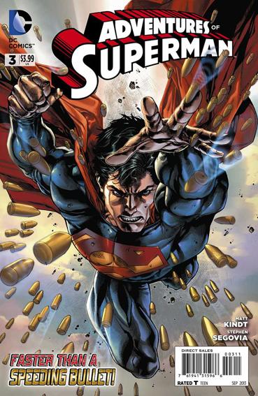 Couverture de Adventures of Superman (2013) -3- Faster than a bullet