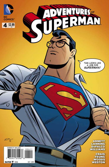 Couverture de Adventures of Superman (2013) -4- A day in the life / The deniers ! / Savior