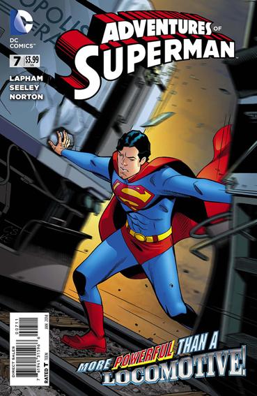 Couverture de Adventures of Superman (2013) -7- Saved ! / Space, actually