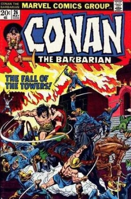 Couverture de Conan the Barbarian Vol 1 (Marvel - 1970) -26- The hour of the griffin!