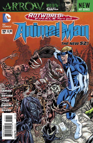 Couverture de Animal Man (2011) -17- Rotworld : War of the rot part 1