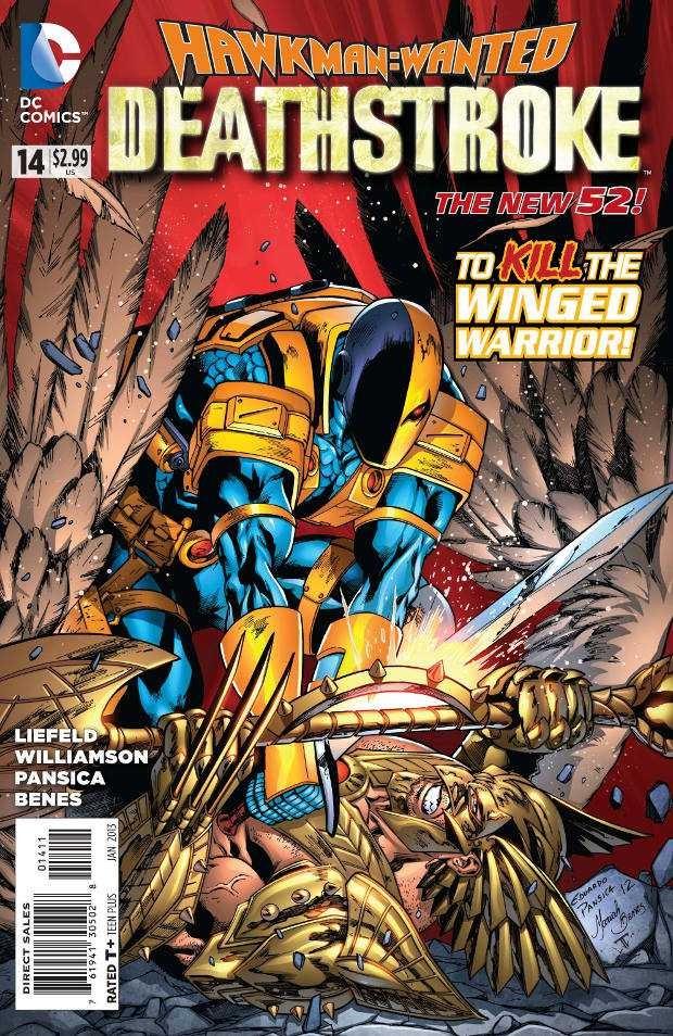 Couverture de Deathstroke (2011) -14- Hawkman: Wanted, Part 3