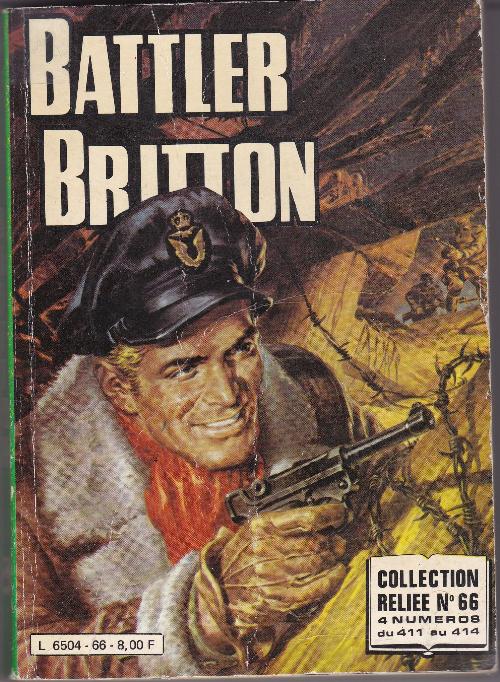 Couverture de Battler Britton -Rec66- Collection Reliée N°66 (du n°411 au n°414)