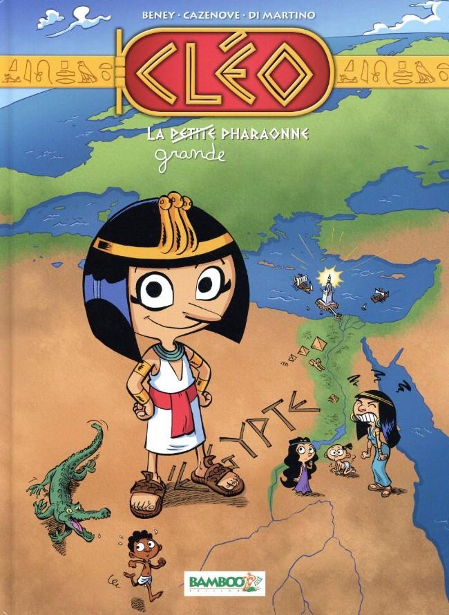Couverture de Cléo, la petite pharaonne -1- La petite / grande pharaonne