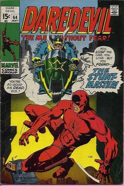 Couverture de Daredevil Vol. 1 (Marvel - 1964) -64- Suddenly, The Stunt-Master!