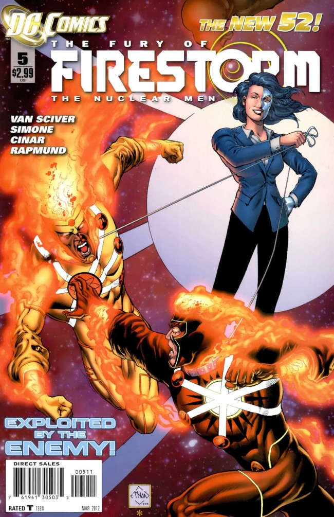 Couverture de Fury of Firestorm (The): The Nuclear Men (2011) -5- Every Bullets Brings and Ending