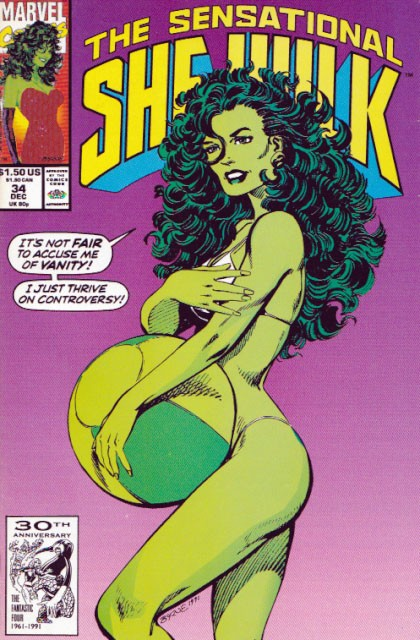 Couverture de Sensational She-Hulk (The) (1989) -34- Who was that zombie I saw you with...?