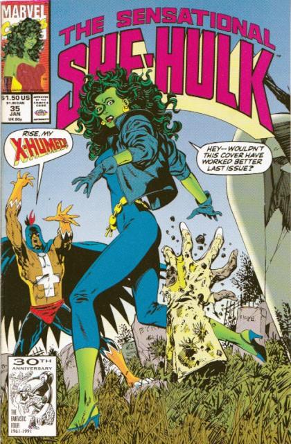 Couverture de Sensational She-Hulk (The) (1989) -35- Hail, hail the gang's all dead