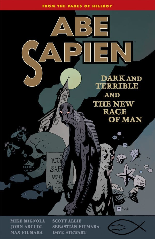Couverture de Abe Sapien (2008) -INT03- Dark and Terrible and The New Race of Man