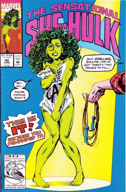 Couverture de Sensational She-Hulk (The) (1989) -40- One potato, 2 potato...