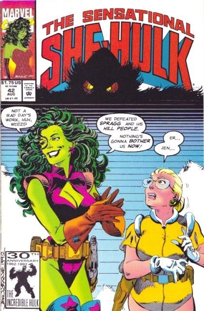 Couverture de Sensational She-Hulk (The) (1989) -42- Doofus ex machina!