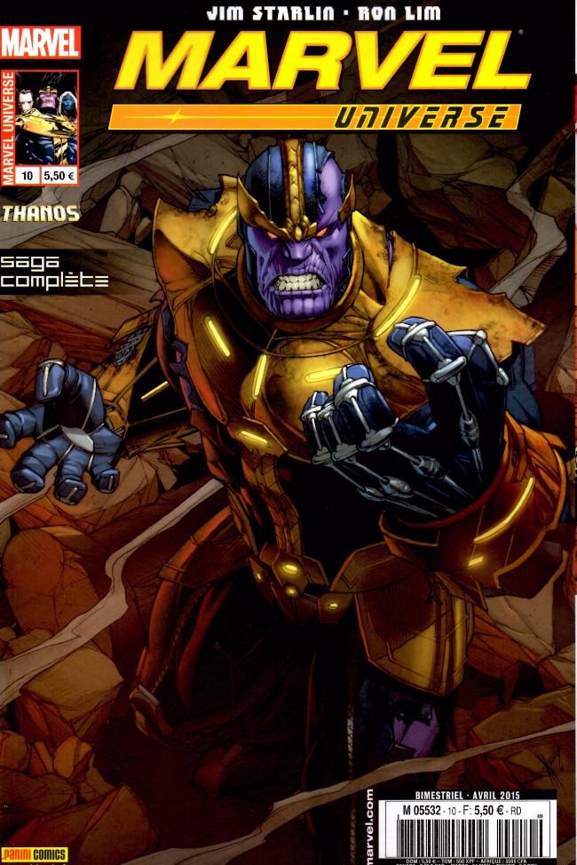 Couverture de Marvel Universe (Panini - 2013) -10- Thanos : Là-Haut, Un Dieu Ecoute