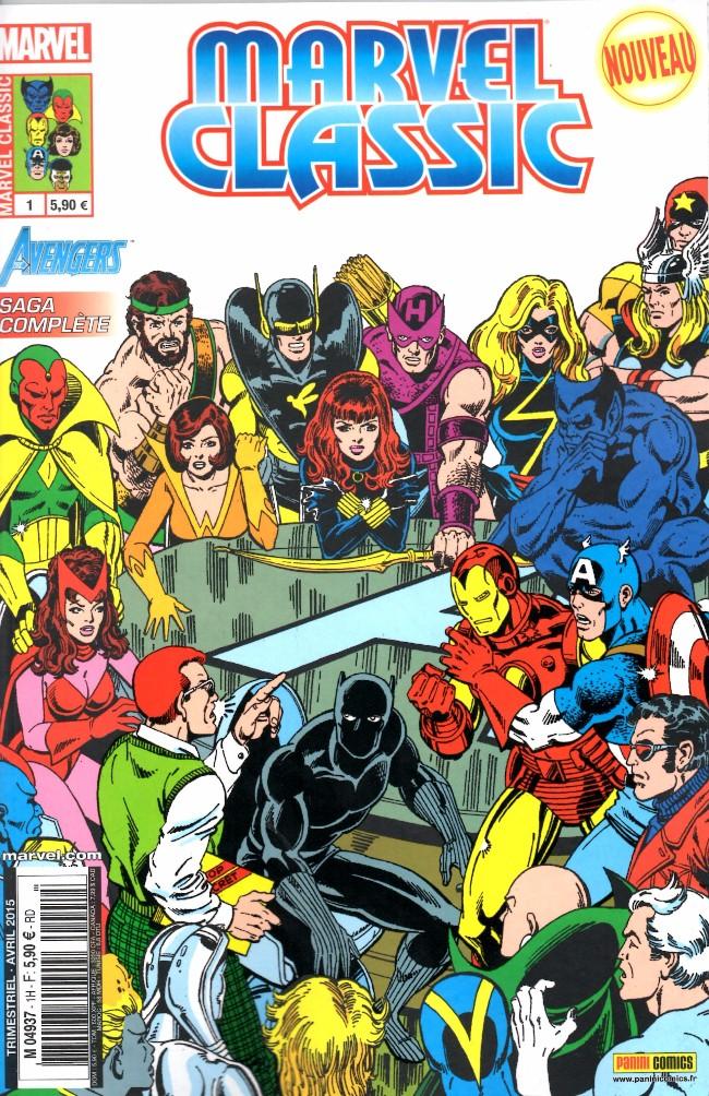 Couverture de Marvel Classic (2e série) -1- Élémentaire, chers Avengers