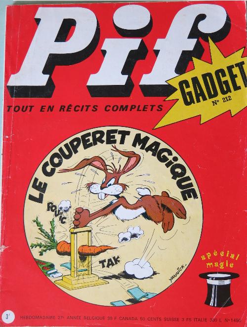 Couverture de Pif (Gadget) -212- Le couperet magique