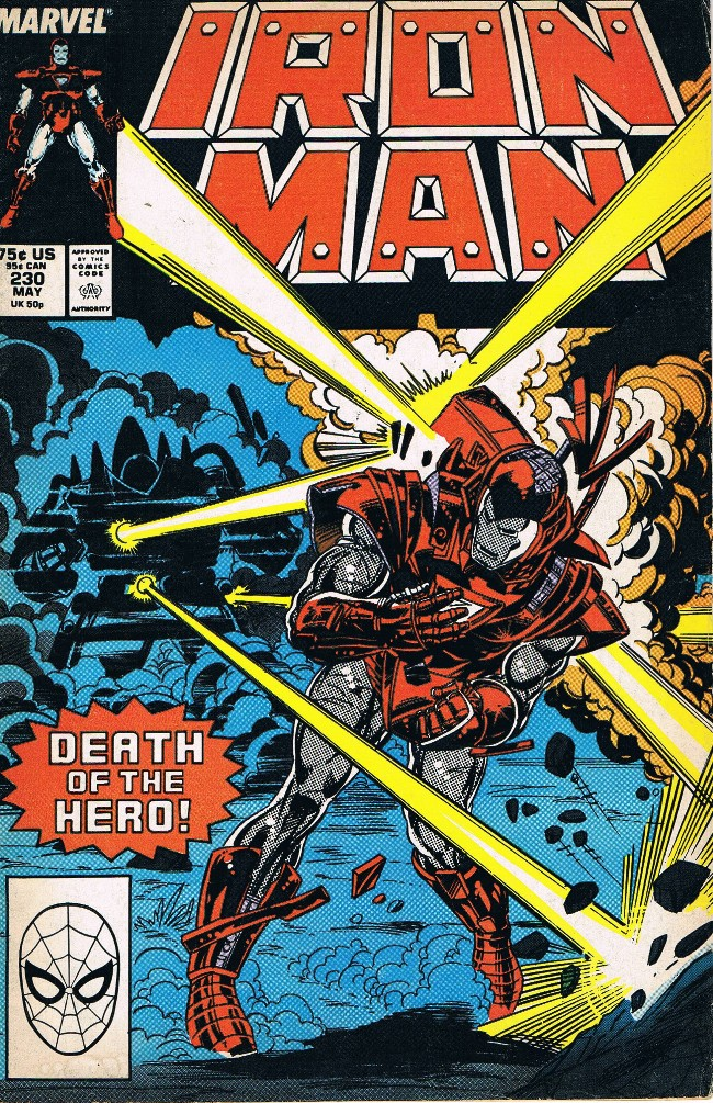 Couverture de Iron Man Vol.1 (Marvel comics - 1968) -230-  The day the hero died
